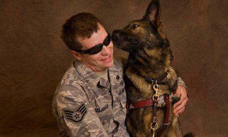 Sgt. Malarsie and his guide dog