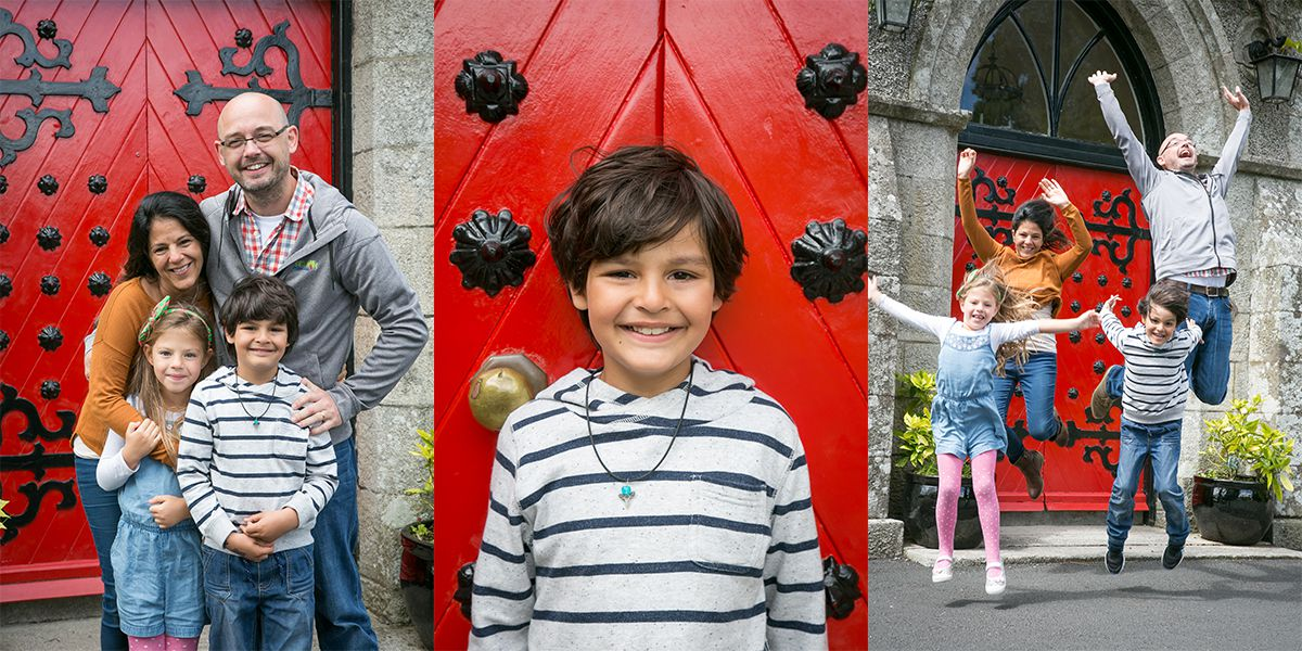 Aidan and his family in Barretstown