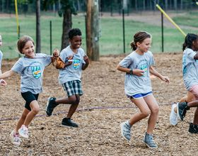 Kids run at Camp Southern Ground