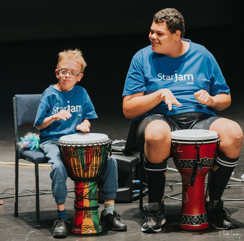 End-of-year concert drumming