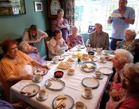 A tea party for the elderly