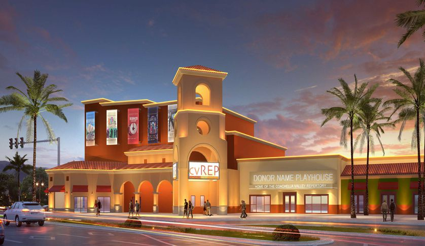 rendering of old theater