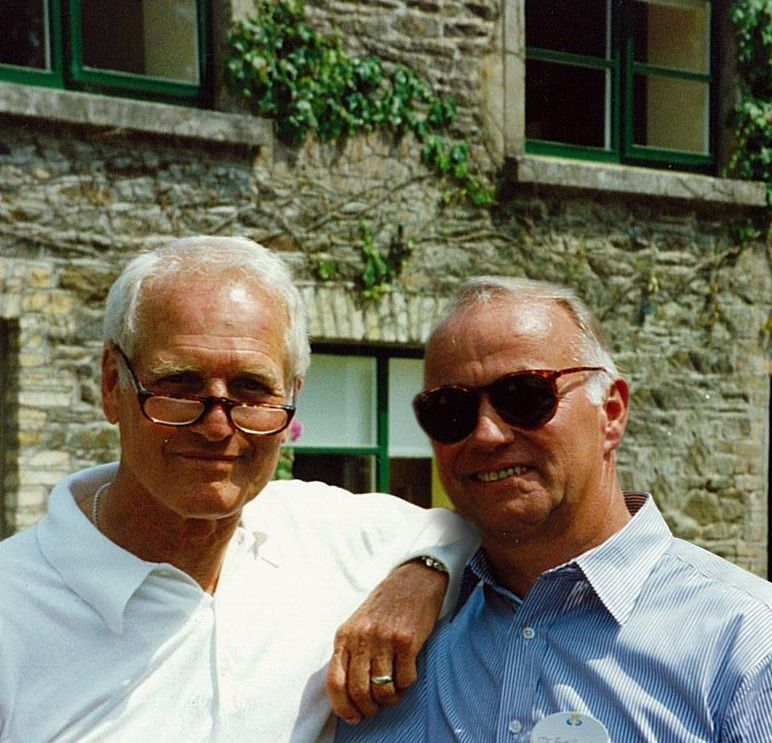 Paul Newman, founder, and Bob Forrester, Executive Chairman of Newman's Own, Inc.