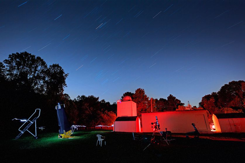the observatory at night