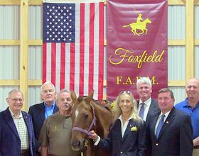 Foxfield FARM Board of Directors with first Donated Polo Horse