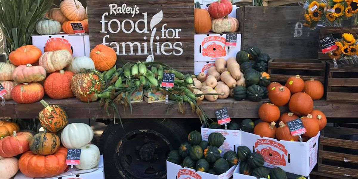 fall display of gourds