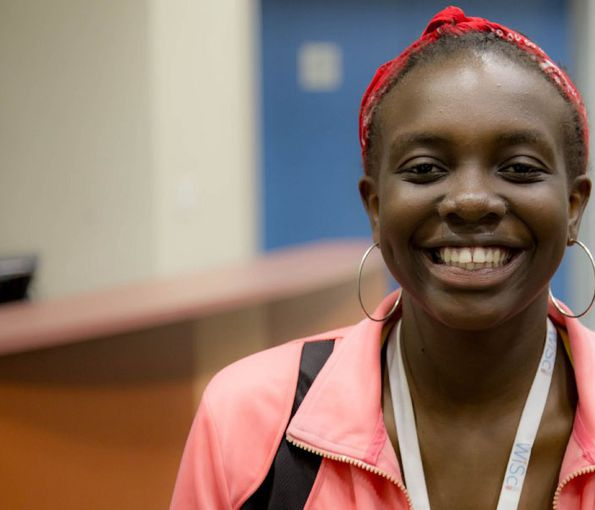 Fifteen-year-old Natalie Obiero believes girls everywhere have the right to go to school.