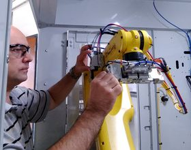 Sergii works as a robotic engineer