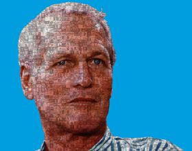 Paul Newman as a mosaic