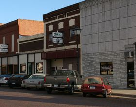 The main street of Lyons, NE