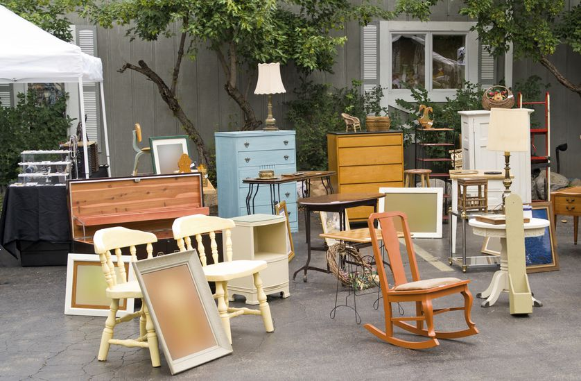 group of used furniture