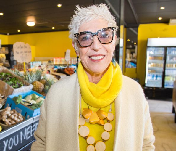 founder of Oz Harvest, Ronni Kahn in a grocery store