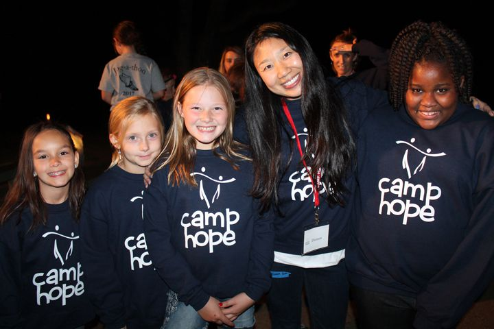 group of children at camp hope