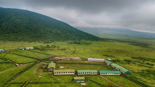 a school nestled in hills