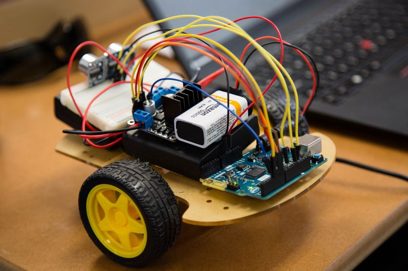 a handmade robotic car