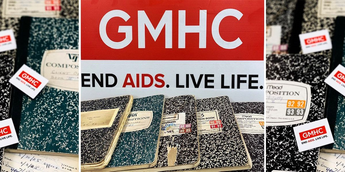 stacks of records kept by GMHC