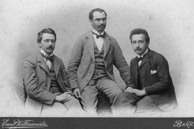 The Olympia Academy founders: Conrad Habicht, Maurice Solovine and Albert Einstein