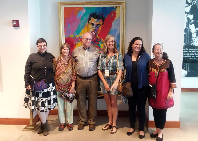 group of nonprofit employees at a museum