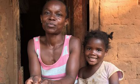 mom and daughter in zambia