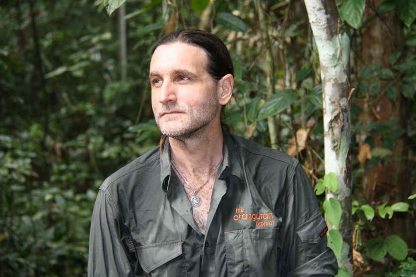 founder of orangutan project in forest