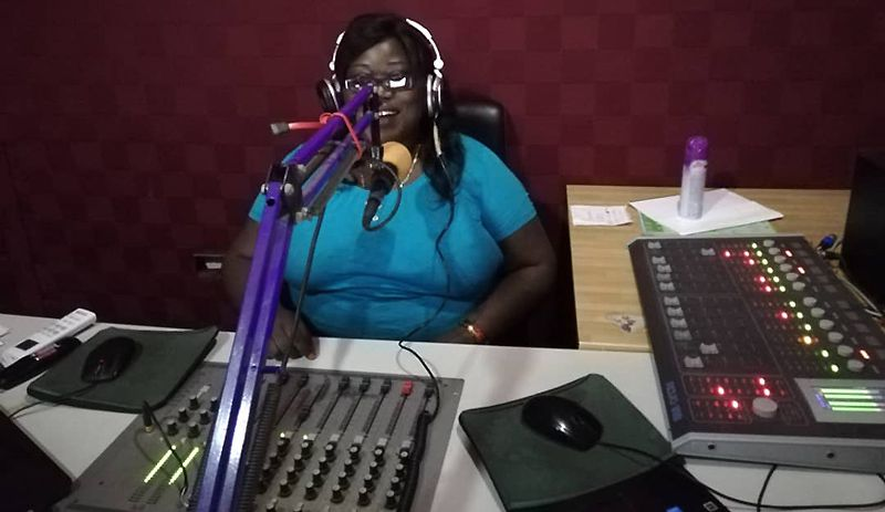 women in zambia on the radio