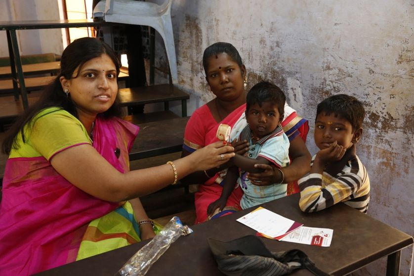 doctor with patient in india