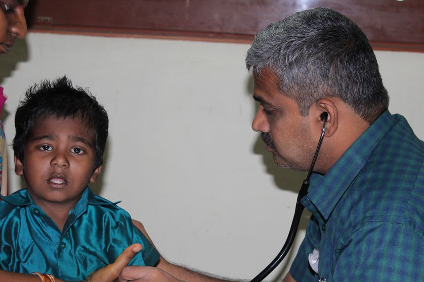 doctor with a child patient